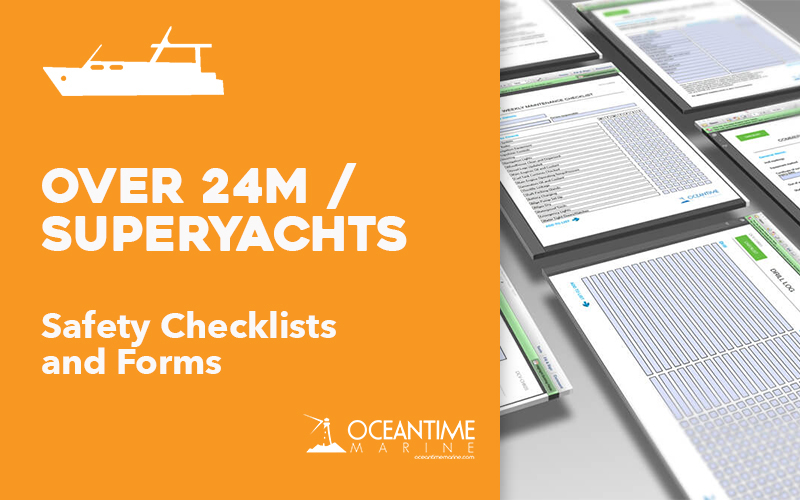 Vessel Checklists for Vessels greater than 8 metres